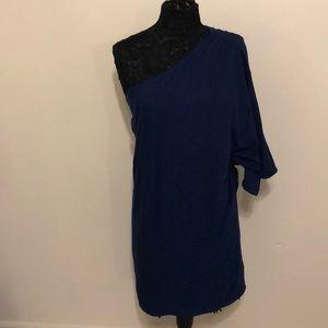 NWT Halston Heritage one shoulder wrap dress sz 4